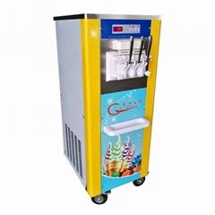 冰淇淋机商用 立式软质冰激凌机器 三色甜筒雪糕机