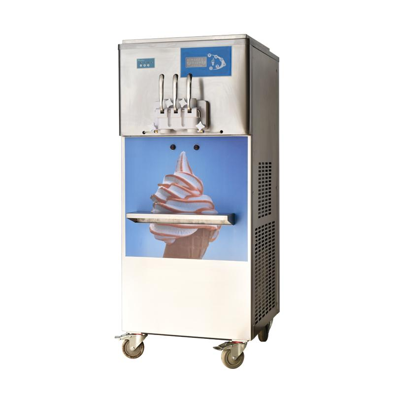 Commercial Rainbow Soft Ice Cream Machine 3 Flavours