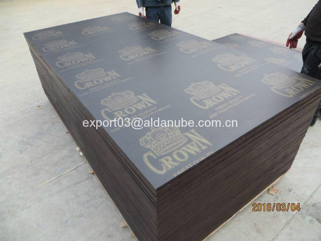 Brown film faced plywood with crown brand china