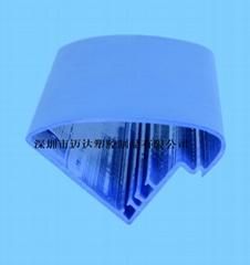 訂製PVC擠出異型材PVC拉管PVC防護條PC透明燈罩