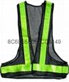 交通V型反光背心 网格背心安全