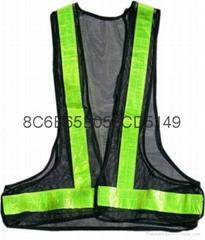 交通V型反光背心 网格背心安全荧光衣