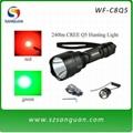打猎手电筒,240流明红光,绿光,白光可选