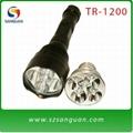 1200流明科瑞Q5LED 手电筒,红光、绿光、白光