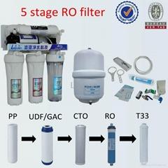 5 stage RO water purifier 50GPD fot kitchen