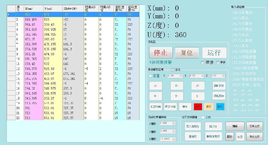 油箱仿形滾焊機控制軟件 1