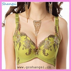 latest top sale embroidery sexy bra from China