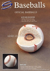 Cowhide Full Grain Leather Cover MLB Professional Game Practice Baseball Ball