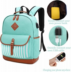 unisex school bag backpack laptap computer bag