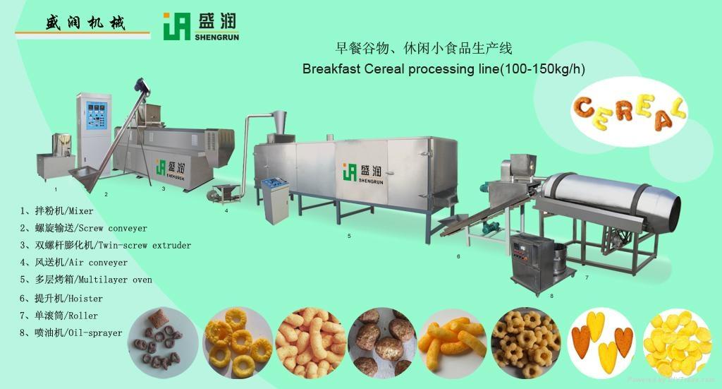 双螺杆玉米球膨化设备生产线 1