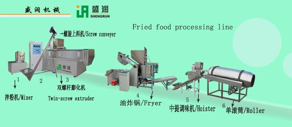 油炸膨化小食品生产线 1