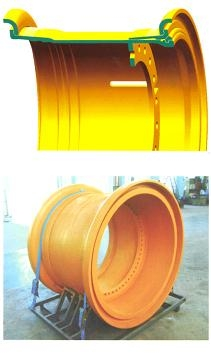 OTR giant mining rim wheel