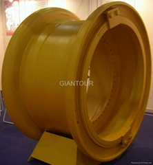 Sell mining OTR steel wheel rim for giant dump truck wheel loader