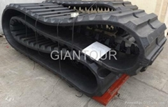 Big rubber tracks for big excavator and agricultural crawler excavator