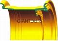 Sell mining wheel OTR steel rim wheel for giant dump truck Caterpillar CAT740