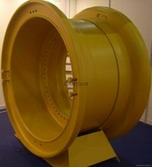 Sell mining wheel OTR steel rim wheel for giant dump truck Komatsu KOM 930E