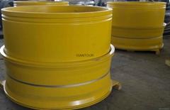 Sell mining wheel OTR steel rim wheel for giant dump truck Komatsu KOM 830E