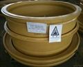 Sell OTR mining wheel steel rim assy 51-24.00-5.0 for dump truck wheel loader
