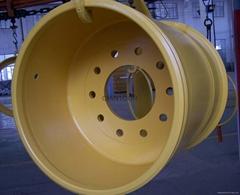Sell OTR mining wheel steel rim assy 25-25.00-3.5 for dump truck wheel loader