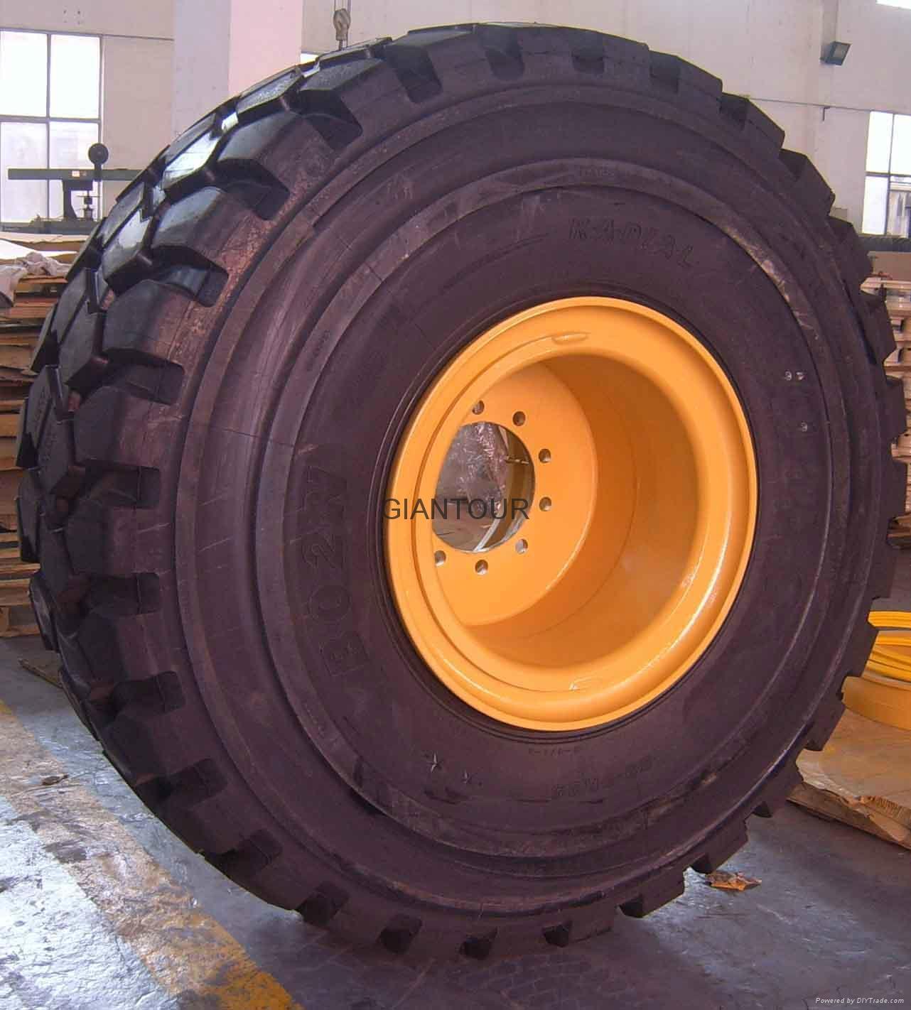 Sell earthmoving rim wheel OTR rig tire rim  25x25.00/3.5 for Rig power trailer