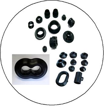 Customized Molded NR Rubber Products Rubber Parts For Industrial Usage 1