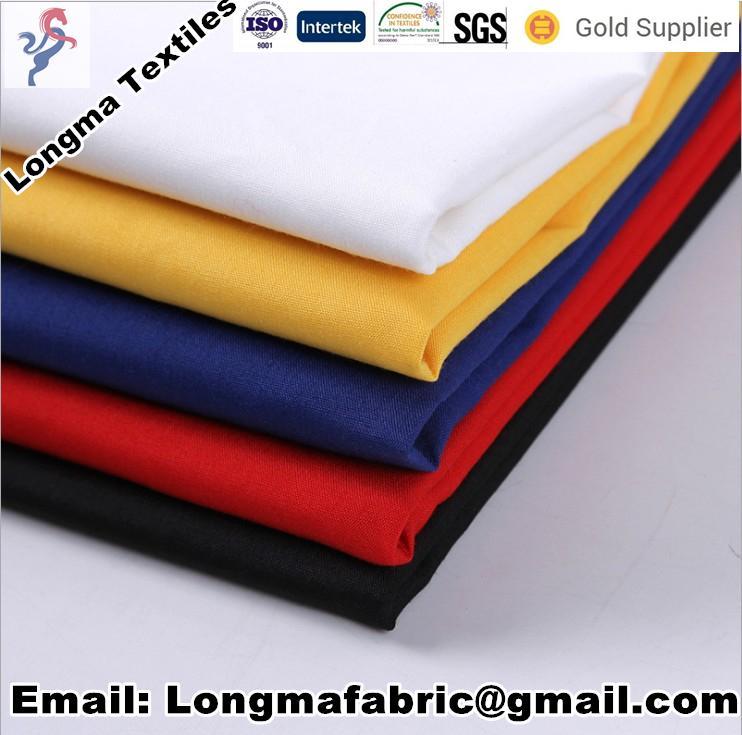 "T/C dyeing t-shirt fabric T/C80/20 45X45 133X72 47""/63"" 1"