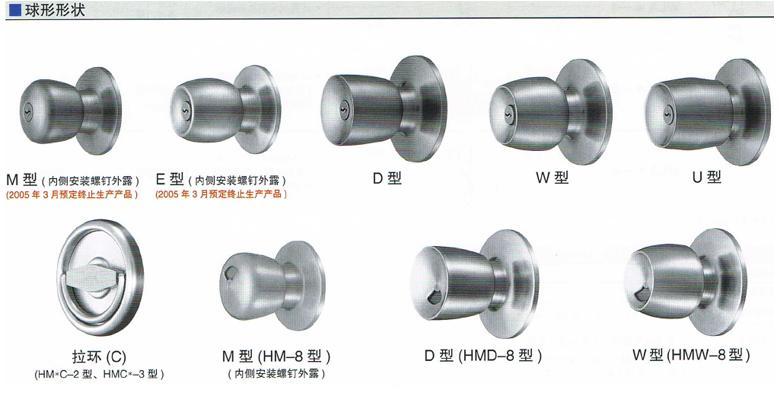 日本MIWA球形鎖HMW HMU 3