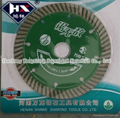 114mm turbo diamond saw blade for stone and ceramic