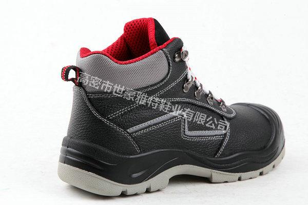 PU injection outsole Cheap men industrial work safety shoes 3