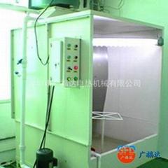 環保工業噴油水帘櫃靜電噴塗噴粉櫃