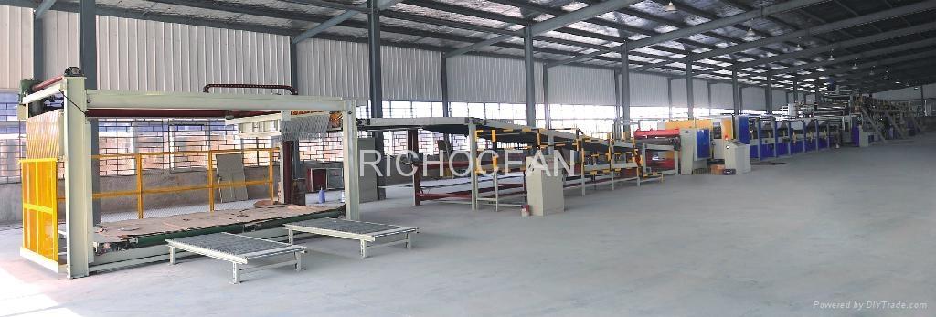 Corrugated pressboard assembly line 1
