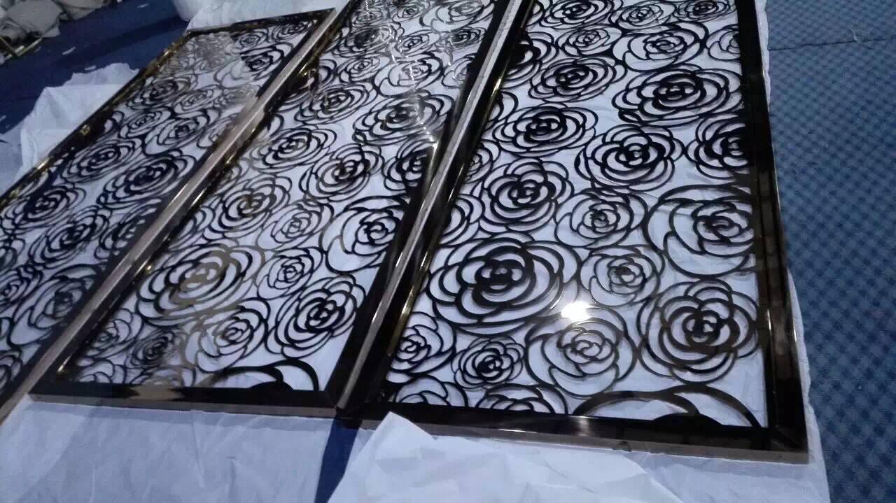 玫瑰金不锈钢屏风 1
