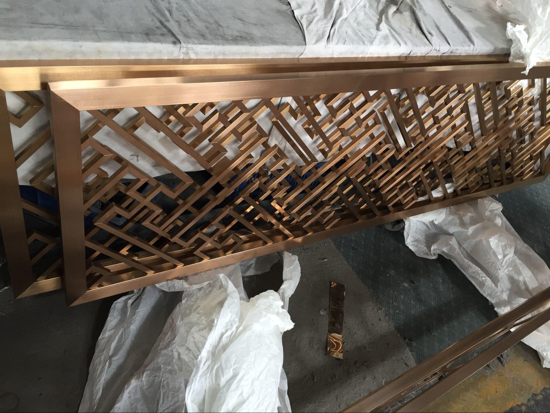 浙江酒店裝飾不鏽鋼屏風 2