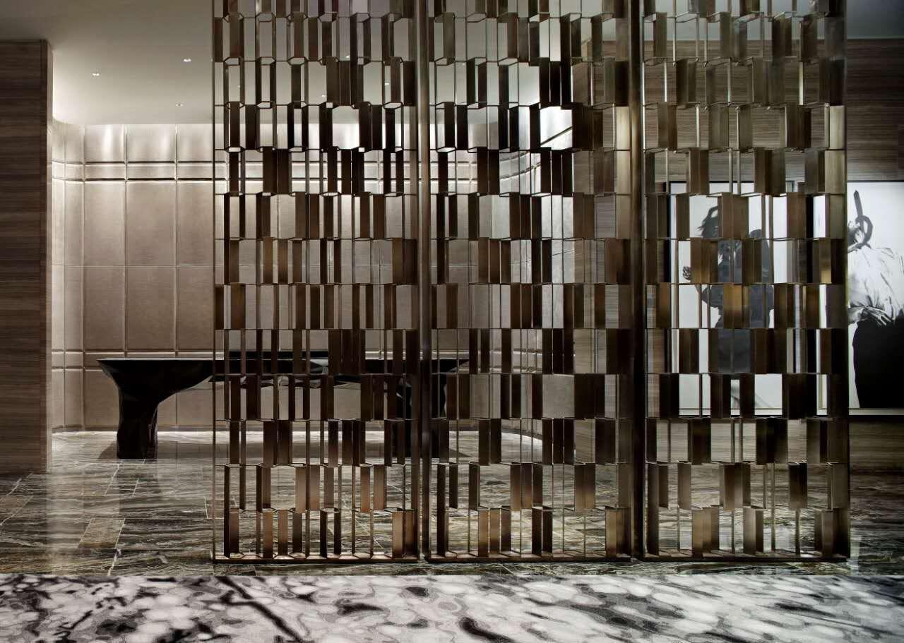 江苏酒店装饰不锈钢屏风 1