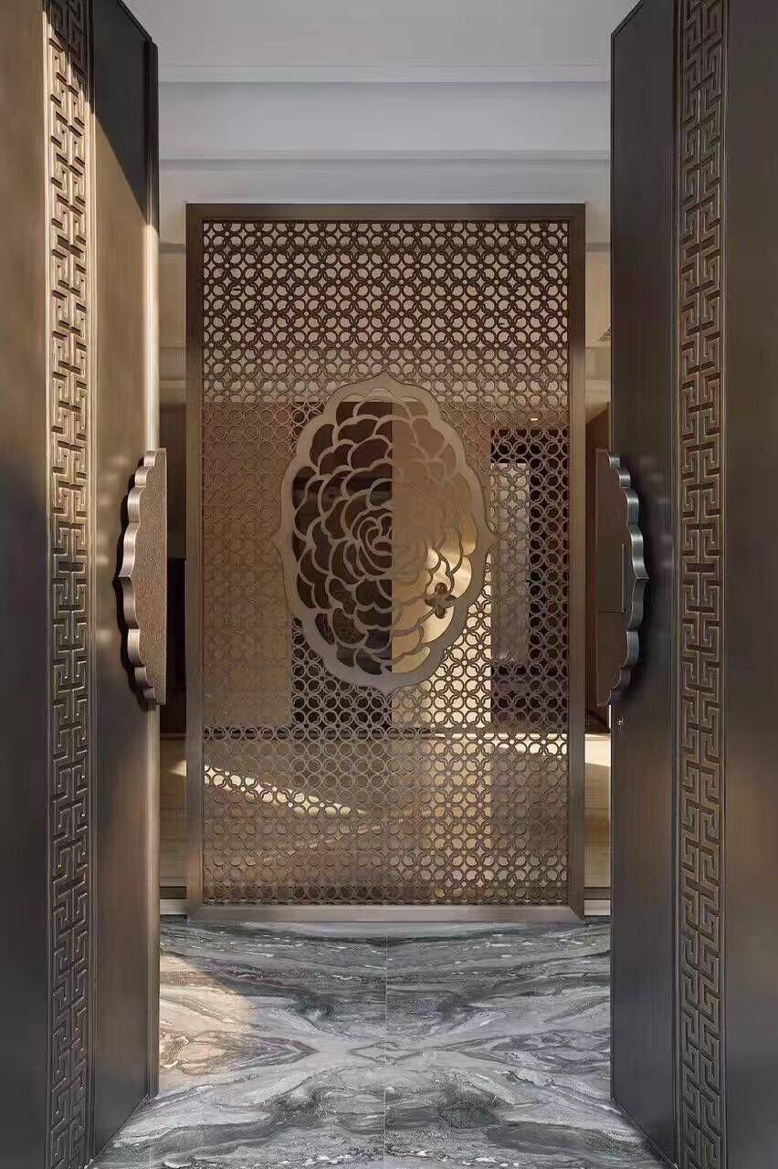 江苏酒店装饰不锈钢屏风 3