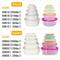 Home kitchen rainbow clear plastic crisper with lids 1