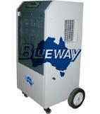 Industrial dehumidifier with universal wheel brake 1