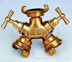 Brass quick fitting  Tee female for pipe