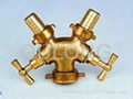 Brass quick fitting  Tee female for pipe   2