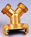 Brass quick fitting  Tee female for pipe   3