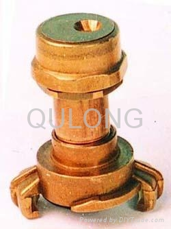 Brass quick fitting  Tee female for pipe   4