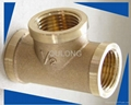 brass cross female connector elbow