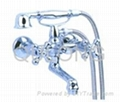 Brass  Basin Faucet single handle bath mixer shower sewer pipe 2