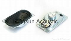Loudspeaker for TV set and monitor