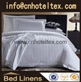 Hotel  jacquard Bedding sets satin stripe bedding  1