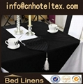 hotel black  table cloth table linen table cover