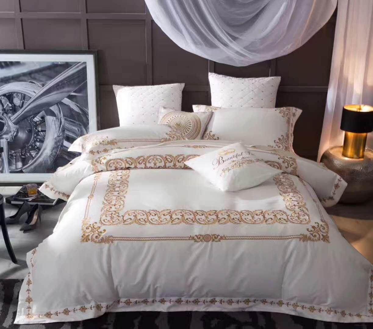 cotton embroidery bedding set 1