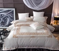 cotton embroidery bedding set