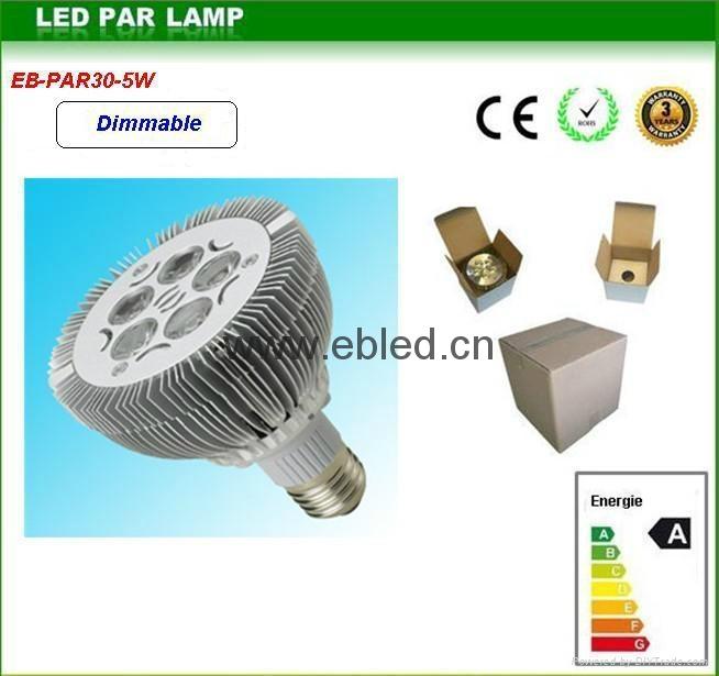 high lumens PAR30 5W 7w  led light bulb day white  3