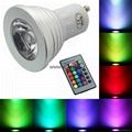 Magic 3W 240V GU10 E27 LED RGB Spot Light Lamp Bulbs Party Downlight + IR Remote 3